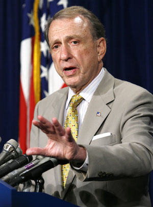 Arlen Specter - Photo for Reuters by Kevin Lamarque