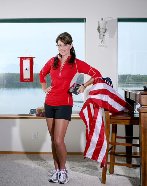 Sarah Palin in Runner's World - Photo/Brian Adams