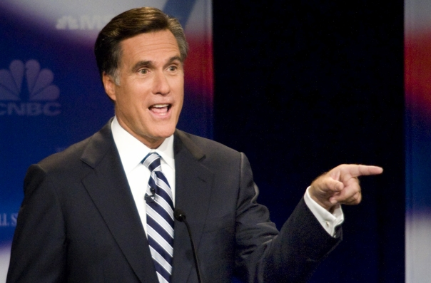 Mitt Romney at Republican Presidential Debate in Detroit on 10/9/07 - Geoff Robins/AFP/Getty Images