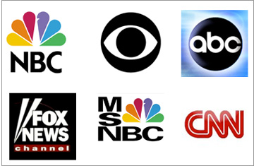 Network and Cable News Logos