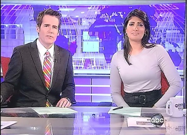 Jeremy Hubbard and Vinita Nair at Anchor's Desk - ABC World News Now