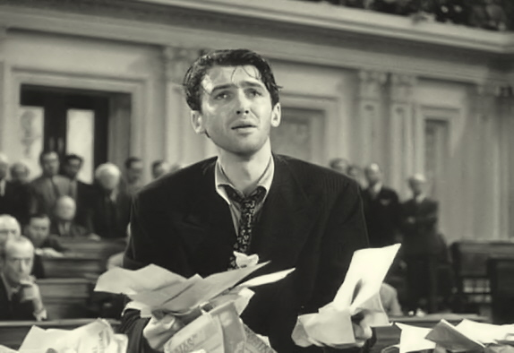 Jimmy Stewart in Mr. Smith Goes to Washington - Associated Press