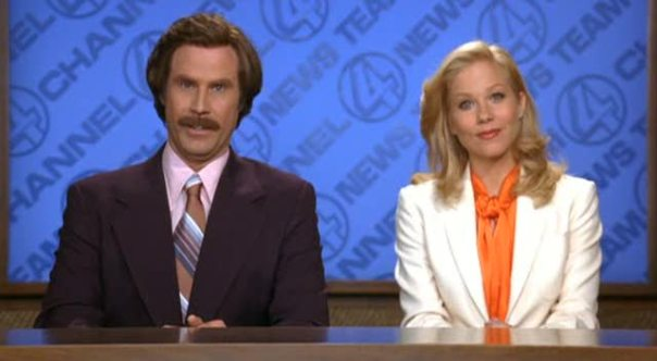 Will Ferrell and Christina Applegate in Anchorman - DreamWorks