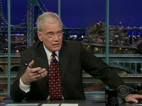 David Letterman Revealing Extortion Attempt on 10/1/09 - CBS
