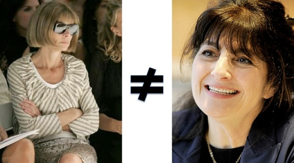 Anna Wintour ≠ Ruth Reichl in 4/09 - Richard Drew / Associated Press