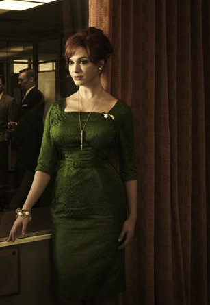 Christina Hendricks as Joan Harris in Mad Men promotional photo for Season 5 - Frank Ockenfels 3 / AMC